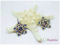 Stardust Earrings pattern. pdf tutorial how to make by 75marghe75