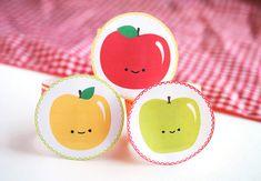 DIY Happy Apple Printable Napkin Rings
