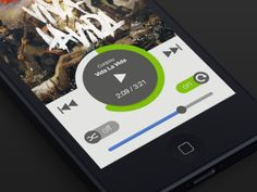 mobile ios music app interface controller