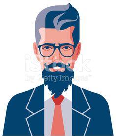 Hipster Beards Eyeglasses royalty-free stock vector art