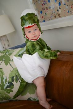 This dinosaur costume is too cute to scare. This might be the first T-Rex you can pick up and hug.