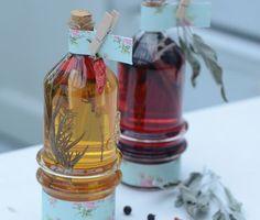 Vyrobte si jedlý dárek: Úžasný bylinkový ocet Nordic Interior, Apple Cider Vinegar, Castor Oil, Soda, Ale, Herbalism, Homemade, Canning, Drinks