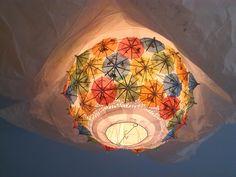 Der Bastelblog: DIY Sonnenschirmchen Lampe