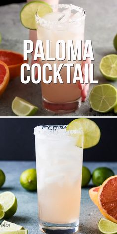 Tequila and grapefruit juice take center stage in our paloma cocktail recipe. Learn how to make this classic drink in only two simple steps! Cocktail Drinks, Cocktail Tequila, How To Drink Tequila, Easy Tequila Drinks, Champaign Cocktails, Basil Drinks, Watermelon Drinks, Basil Cocktail, Cocktail
