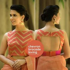 Blouse back neck designs are everything when it comes to picking a good blouse. Here are 40 latest blouse back neck designs that will inspire you to stitch the best blouse for your big day! Indian Blouse Designs, Blouse Back Neck Designs, Choli Designs, Stylish Blouse Design, Fancy Blouse Designs, Latest Blouse Designs, Brocade Blouse Designs, Dress Designs, Blouse Designs Wedding