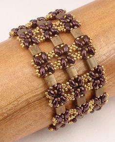 Tila Beads and SuperDuos - Lattice Bracelet