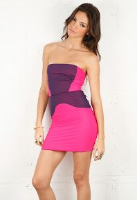 Cute pink and purple dress!