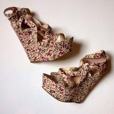 Forever 21 Shoes - Platform Floral Wedges