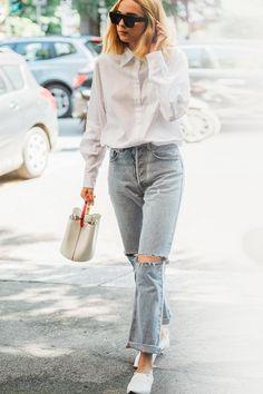 Street style à la Fashion Week homme printemps-été 2019 de Milan