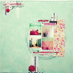Lisa says: have a look at this layout closeup, really lovely. Shabby and simple, just love it , cute centered lo