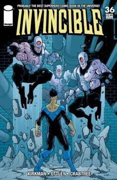 Invincible cover 36 by RyanOttley on DeviantArt Comic Book Superheroes, Comic Book Characters, Comic Books Art, Comic Art, Book Art, Invincible Comic, Best Superhero, Spiderman Art, Image Comics