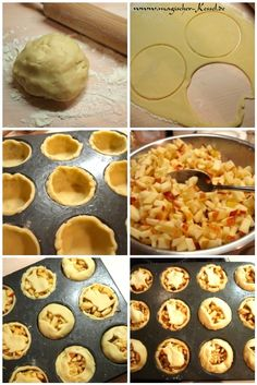 Little applepies Food Preparation, Tasty Dishes, Baked Goods, Muffin, Sweets, Cooking, Breakfast, Recipes, Tooth
