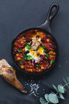 Chorizo and Chickpea Chakchuka for a Christmas Brunch on www.christelleisflabbergasting.com #Beeggsquisite