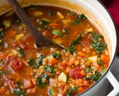 Here's a new, super healthy soup to add to your dinner rotation - this Italian Vegetable Lentil Soup! Healthy Recipe Videos, Healthy Chicken Recipes, Easy Healthy Recipes, Vegetarian Recipes, Cooking Recipes, Pastas Recipes, Dinner Recipes, Healthy Pancakes Oatmeal, Tofu
