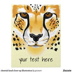 cheetah head close-up illustration jigsaw puzzle