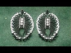 "Beading4perfectionists: 1920's Art Deco -""ish"" Spiderlike earrings. Brickstitch beading tutorial."
