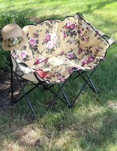 Chintz Tete A Tete Lawn Chair #50 OU 5027807 $59.95