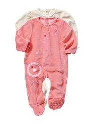 2er-Pack Samt-Strampler Baby Mädchen