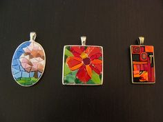 three necklaces, ungrouted by Mosaic Geek, via Flickr