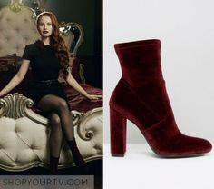 """Riverdale: Season 1 Episode 5 Cheryl's Burgundy Suede Sock Boots 