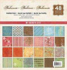 "Craftie-Charlie: My Mind's Eye Bohemia Paper Pad 12""x12"" - 48 sheets BOHGS01"