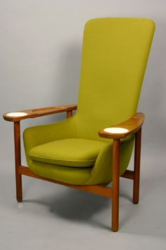 Green Hi-Back Chair. @designerwallace