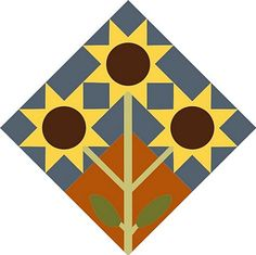 Sunflowers - *links to some good barn quilt block info.