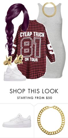 """""""House Party Marathon-Me"""" by newtrillvibes ❤ liked on Polyvore featuring NIKE, Gogo Philip, Han Cholo, women's clothing, women, female, woman, misses and juniors"""