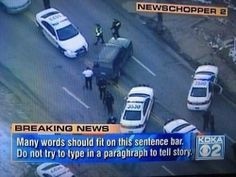 When something dramatic was happening but the caption writer was in the bathroom. | 27 Times Breaking News Got Completely Broken