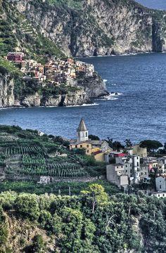 Approaching Manarola, Cinque Terre, Italy, province of La Spezia , Liguria