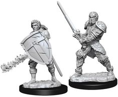 D&D Nolzur's Marvelous Unpainted Miniatures: Male Human Fighter Miniatures, Hand Painted, Painting, Fictional Characters, Minis, Table, Products, Paintings, Mini Things