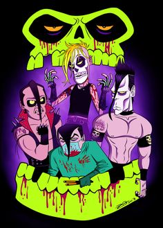 Always been one of my favorite bands. The classic 1983 line up: Jerry Only, Danzig, Doyle, ROBO. I aslo did a special Halloween version! The Misfits Misfits Band, Rock Posters, Band Posters, Misfits Tattoo, Danzig Misfits, Fantastic Show, Extreme Metal, Funny Memes, Ideas
