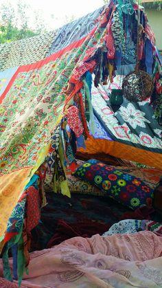 Boho tent teepee Bohemian Hippie glamping silk hippy by HippieWild