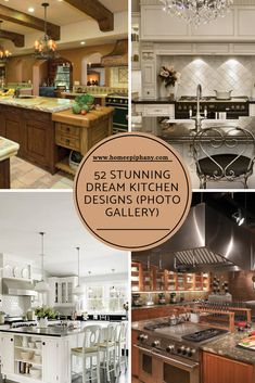 Check out these 52 dream kitchens (photos) Home Design, Luxury Kitchen Design, Luxury Kitchens, Dream Kitchens, Interior Design, Kitchen Designs Photo Gallery, Home Decor Inspiration, Decor Ideas, Diy Home Decor Projects