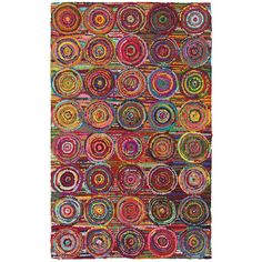 Layla Multi 3 ft. 6 in. x 5 ft. 6 in. Chindi Indoor Area Rug