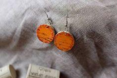 Martinuska / Oranžády korkové/cork earrings