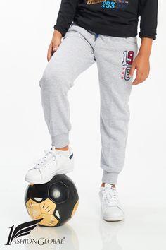 Pantalón de chándal gris claro