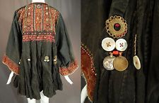 Nuristan Afghanistan Pakistan Coin Beaded Embroidered Ethnic Wedding Dress Vtg