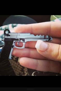 Instead of a plain and simple house key, get yourself one of these awesome gun keys! It& the perfect way to tell your keys apart and features a print of a 45 caliber handgun. Great to use as your main house key.