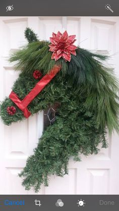 Inspiration no instructions. use dollar tree Garland and Garland ties with ribbons