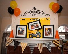 "Photo 1 of 15: Construction / Birthday ""I Dig Being 3! Construction Party"" 