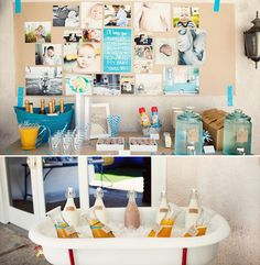 Incredible Ombre Surf Birthday Party // Hostess with the Mostess® First Birthday Brunch, Baby Birthday, Birthday Ideas, Birthday Pictures, Birthday Board, 24th Birthday, Theme Mickey, Babyshower, Party Entertainment