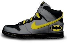 Nike - Batman Shoes, my son would love these.my Xemmy-Batman :D Nike Outlet, Shoes Outlet, Batman Robin, Nike Free Shoes, Nike Shoes, Roshe Shoes, Nike Roshe, Me Too Shoes, Men's Shoes