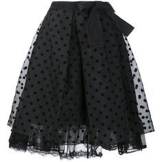Marc Jacobs polka dot organza skirt (€275) ❤ liked on Polyvore featuring skirts, marc jacobs, black, bottoms, gonne, layered skirt, high-waisted skirts, high waisted knee length skirt, marc jacobs skirt and mid length skirts