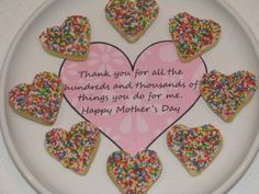 "Mother's Day Cookie Treat ""Thank you for all the 'hundreds and thousands' of things you do for me"""