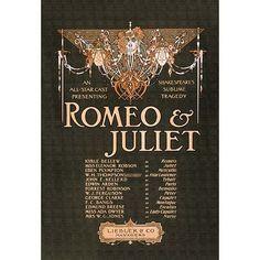 "Buyenlarge 'Romeo & Juliet' by Strobridge Litho Co. Vintage Advertisement Size: 66"" H x 44"" W"