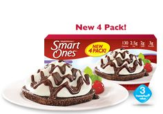 Brownie A La Mode - Weight Watchers® Smart Ones®  Principal #5. Smart desserts and snacks can help you stay on track.