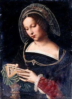 Ambrosius Benson (ca. 1495 Italy - 1550 Belgium), St. Mary Magdalene reading