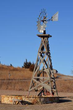 Windmill at Marsh Delta, Lake Manitoba, Canada