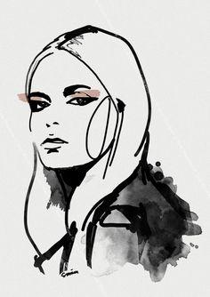 Fashion illustration sketches, fashion illustration face и illustration art. Art And Illustration, Fashion Illustration Face, Fashion Illustrations, Fashion Collage, Fashion Art, Fashion Design, Drawing Sketches, Art Drawings, Art Plastique